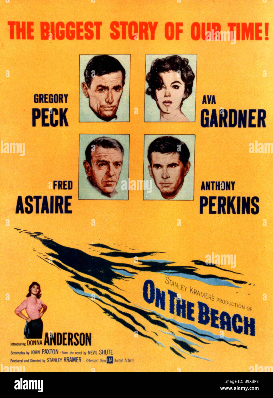 on the beach poster for 1959 ua film with gregory peck