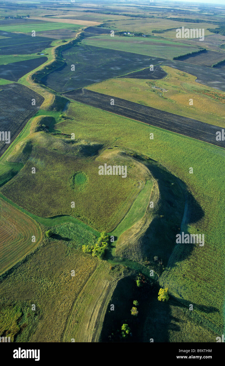 An Esker Snakes Across The Prairie A Sinuous Gravel Ridge Formed By ...