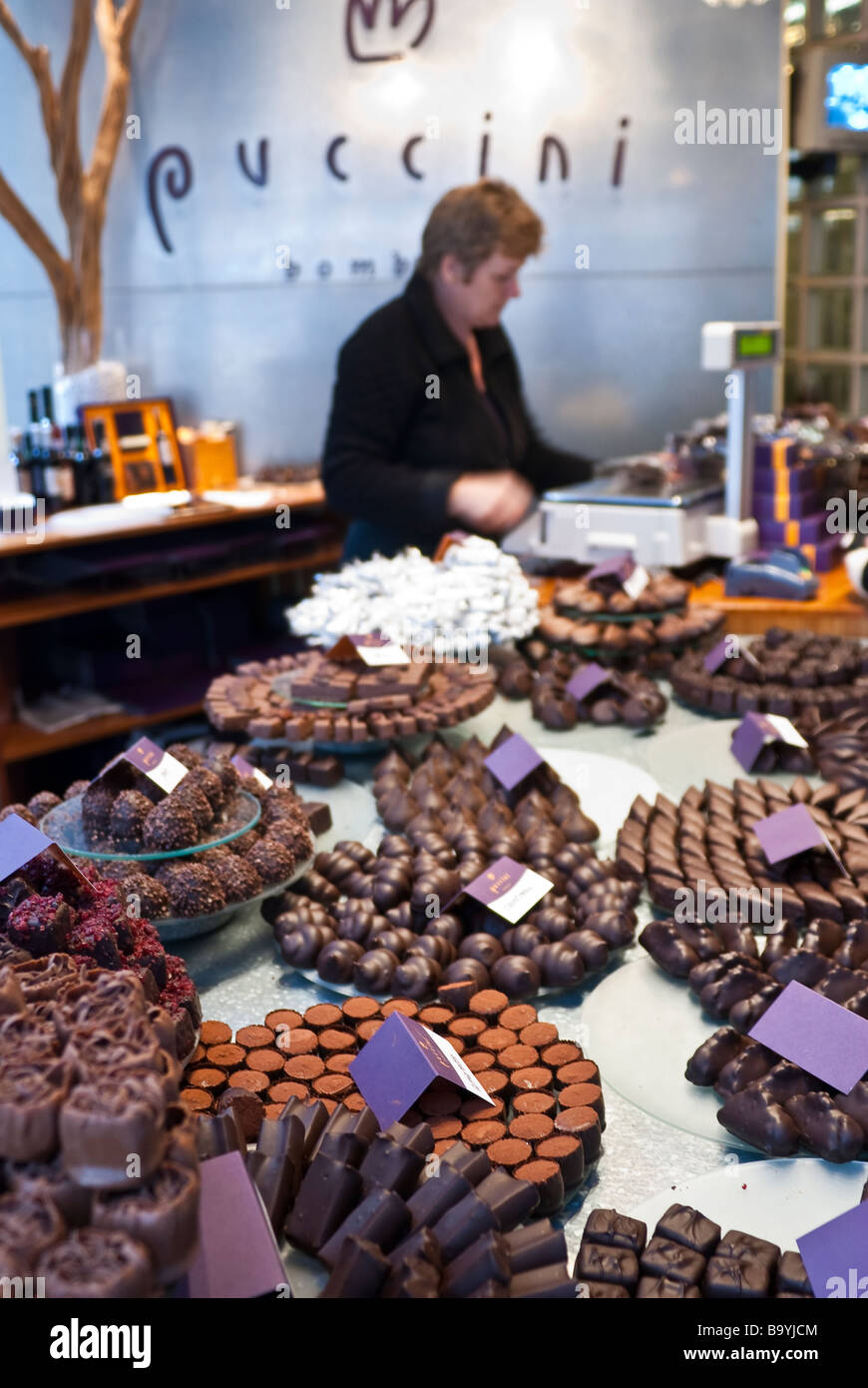 Puccini Bomboni the best chocolate shop in Amsterdam Stock Photo ...