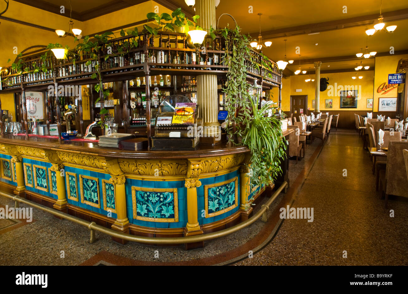 Victorian Tiled Bar And Dining Room Of The Walerloo Hotel