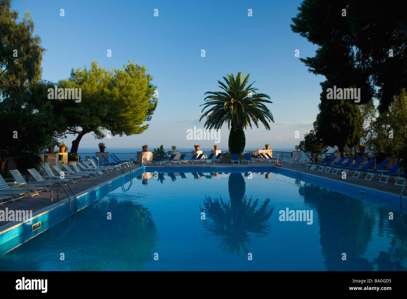 Excelsior Palace Hotel Outdoor Swimming Pool Taormina Sicily Italy Stock Photo Royalty Free