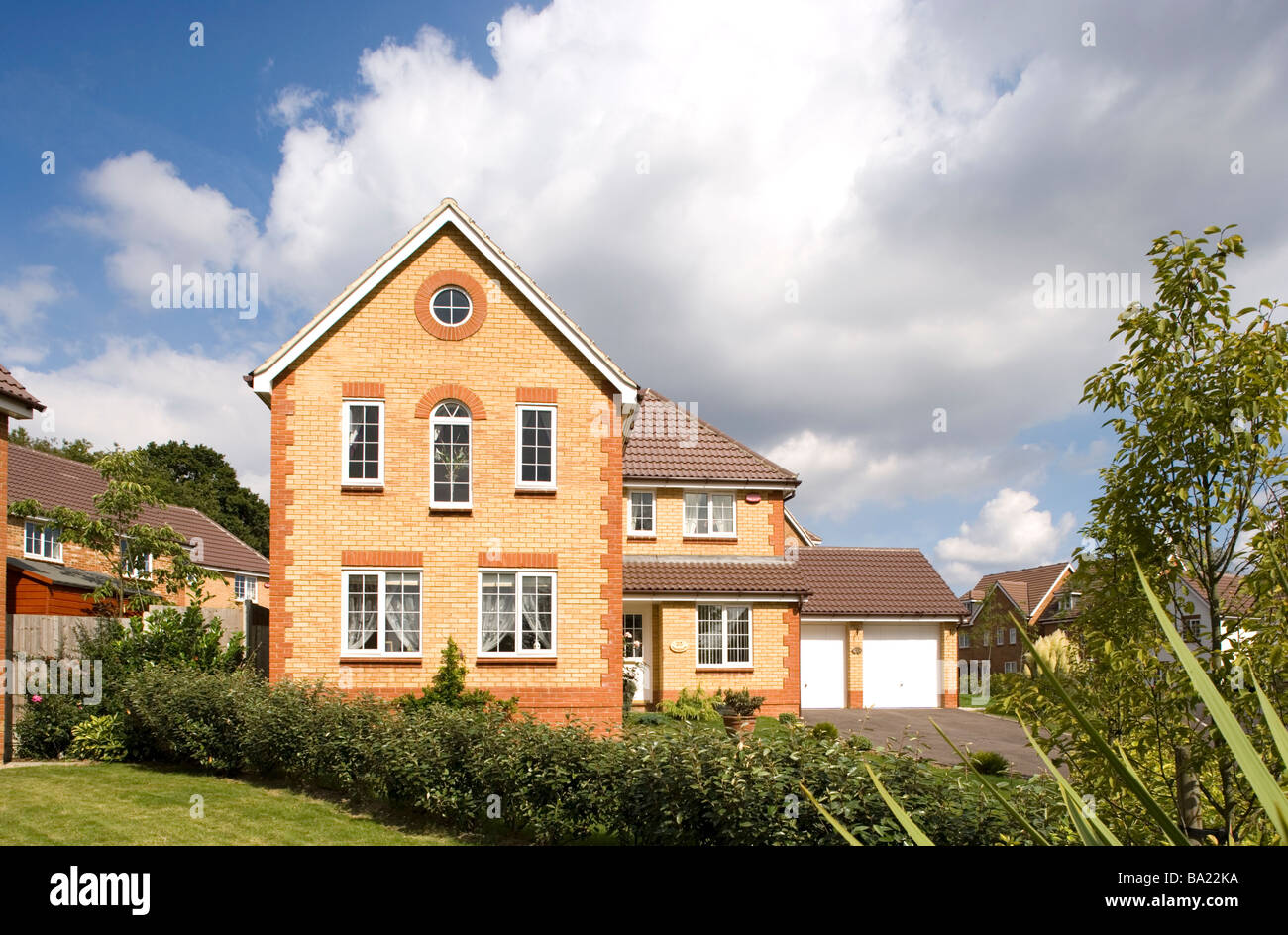 Modern detached house Kent England Stock Photo Royalty Free Image