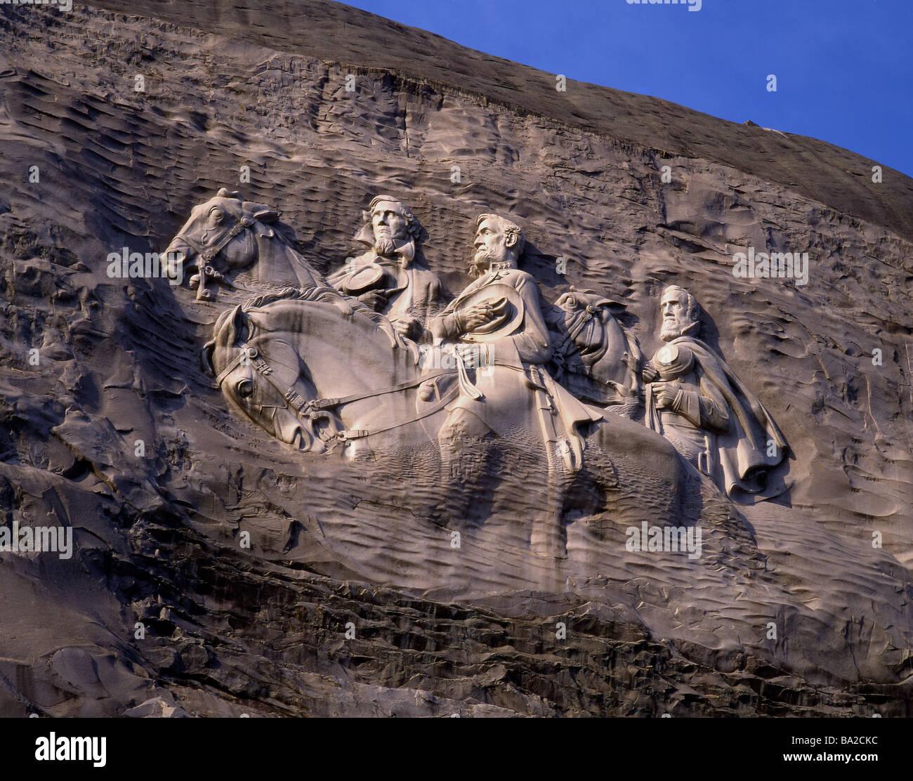Georgia atlanta stone mountain park confederate memorial