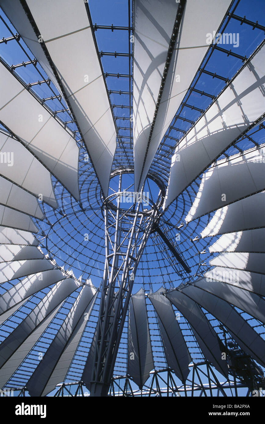 Germany berlin potsdam place sony center dome detail from below business house inner courtyard