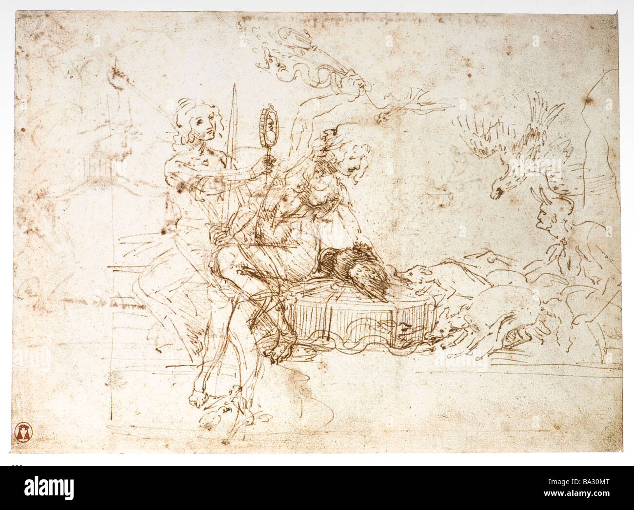 Allegory of statecraft justice and prudence by leonardo da vinci