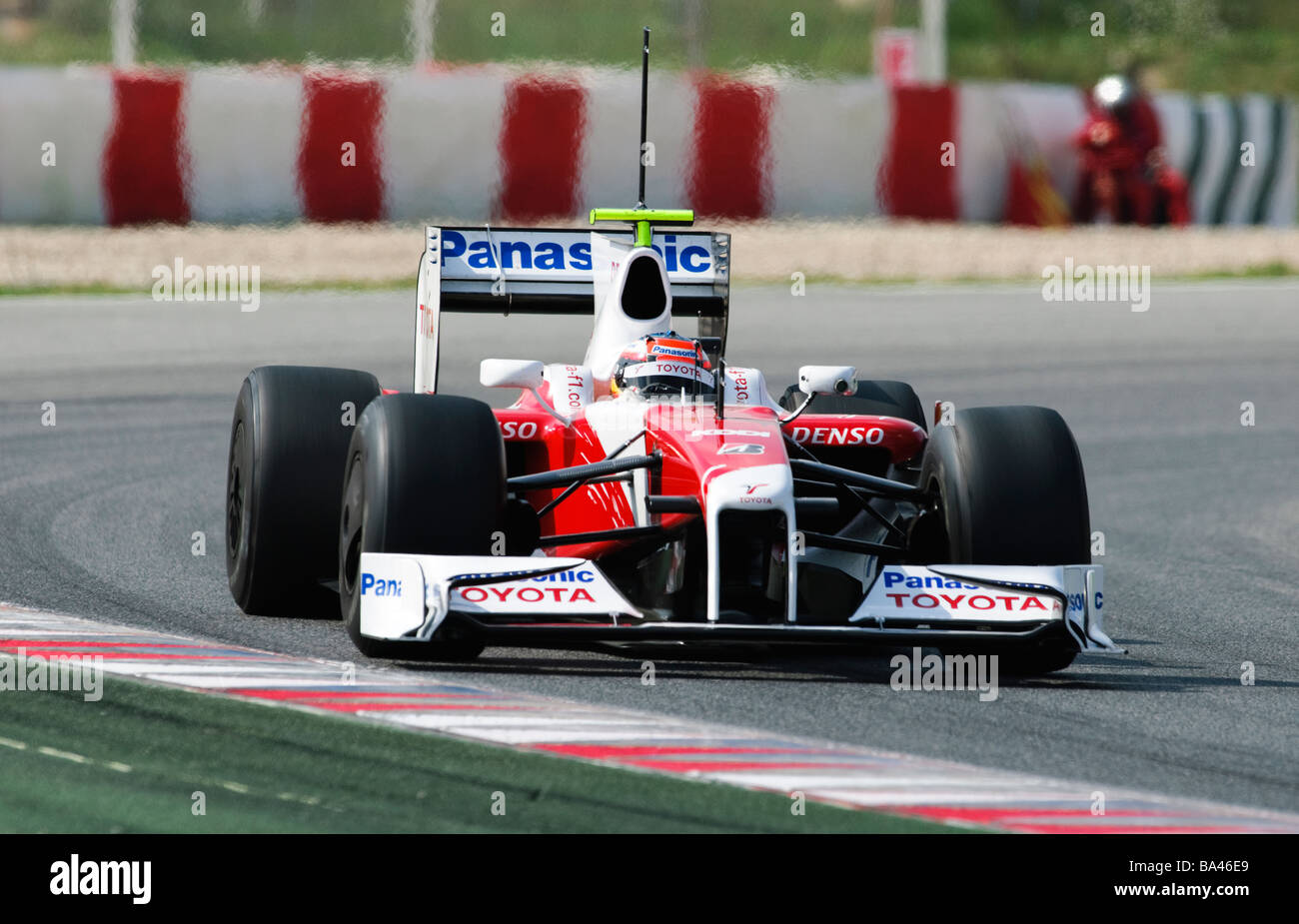 Timo GLOCK in the Toyota TF109 race car during Formula One testing ...