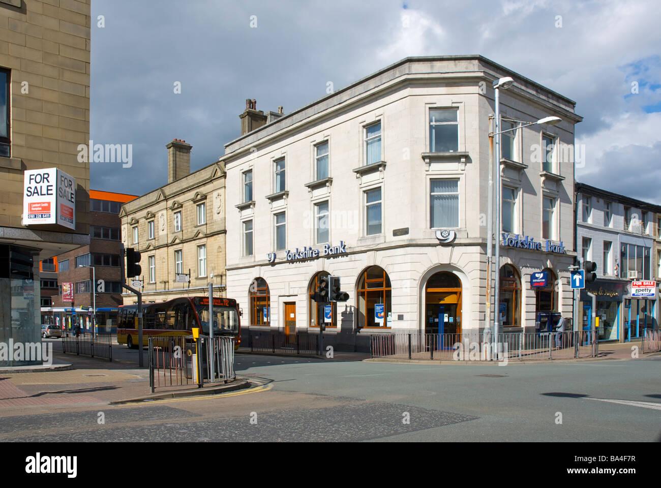 Yorkshire Bank on Hargreaves Street, Burnley, Lancashire ...