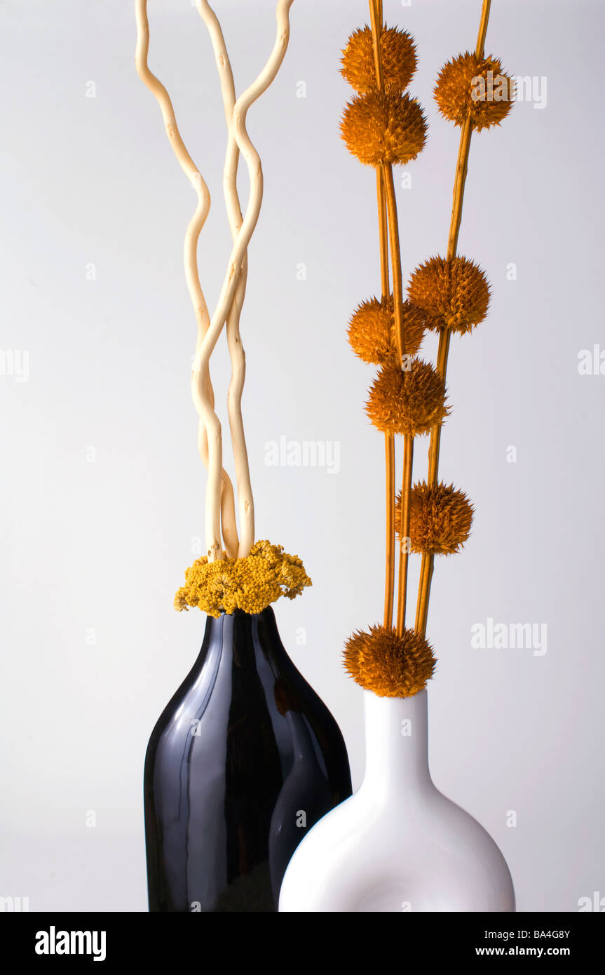 Beautiful arrangement with dried foliage reeds twigs branches beautiful arrangement with dried foliage reeds twigs branches in ceramic vases reviewsmspy