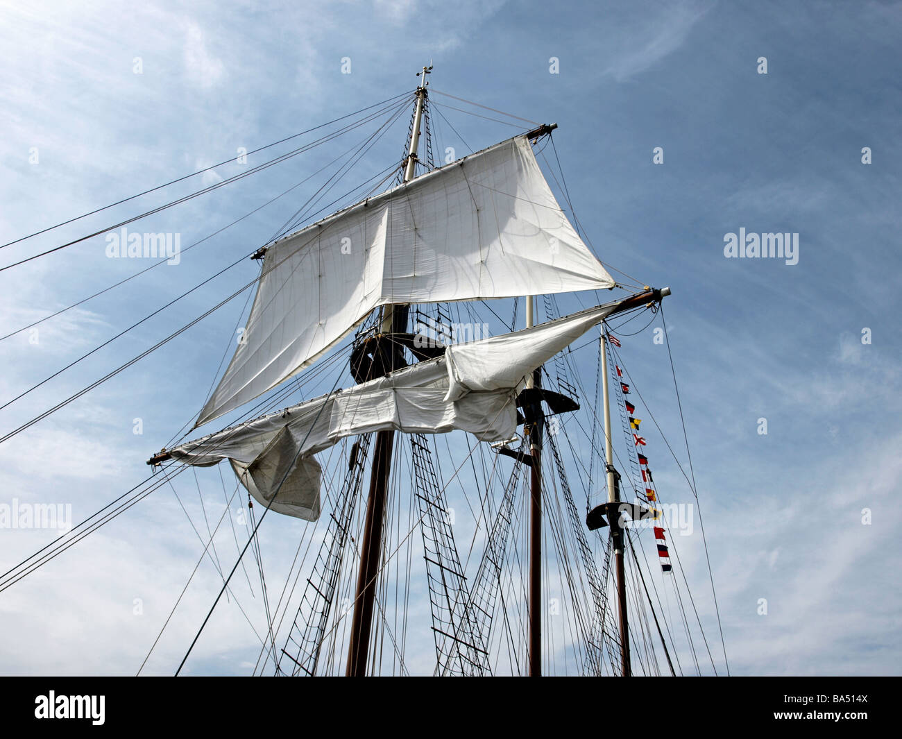 Ship ladders stock photos ship ladders stock images alamy tall ship tall ships three masts with unfurled top sail on mast with ropes sciox Gallery