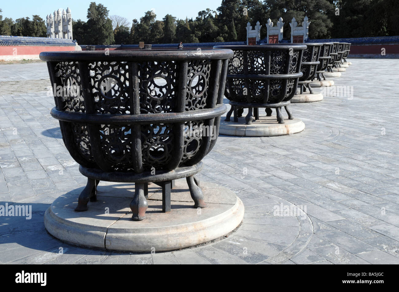 Iron Burning Stoves at The Temple of Heaven or Altar of Heaven ...