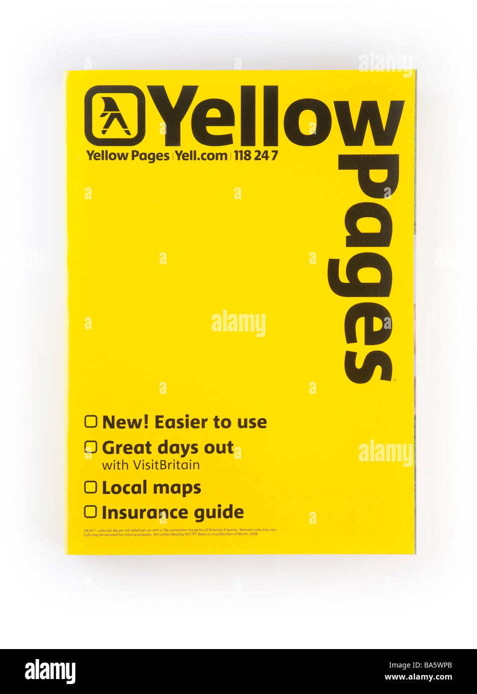 Yellow Pages phone directory book Stock Photo, Royalty ...