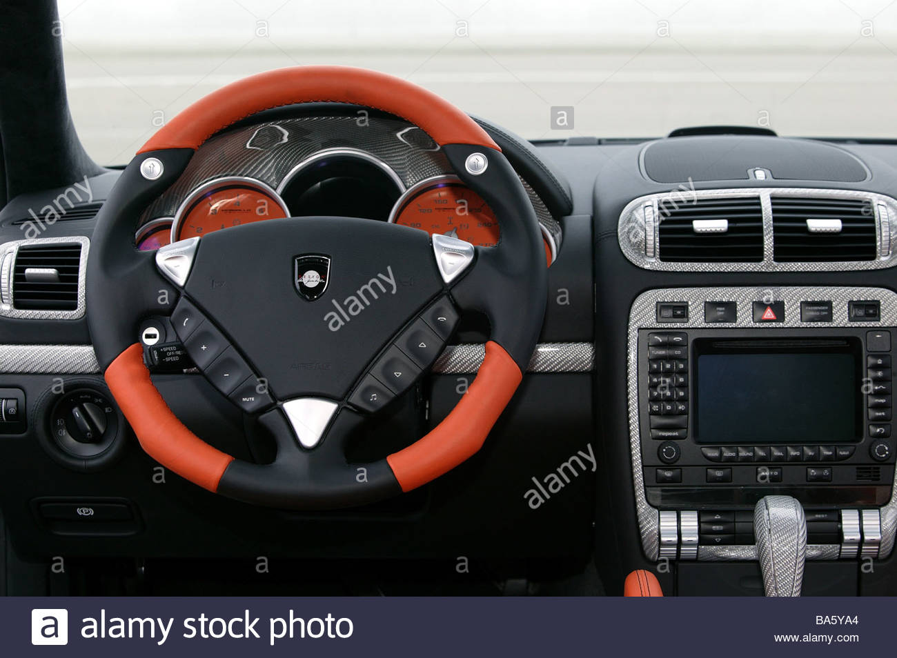 Car porsche cayenne gemballa gt 750 inner opinion detail cockpit steering wheel no property release