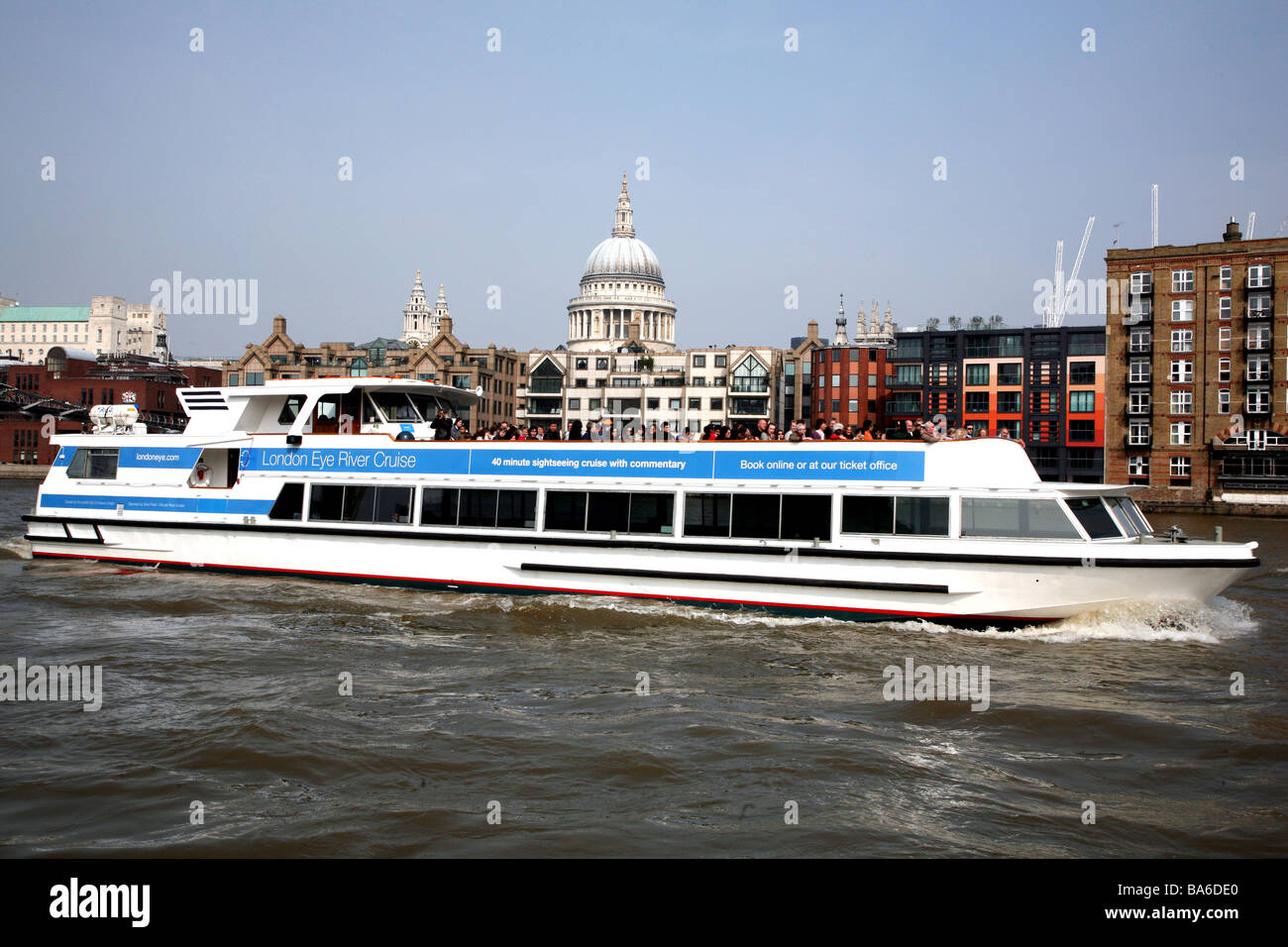 London Eye River Cruise Boat On Thames Stock Photo Royalty Free Image 23499