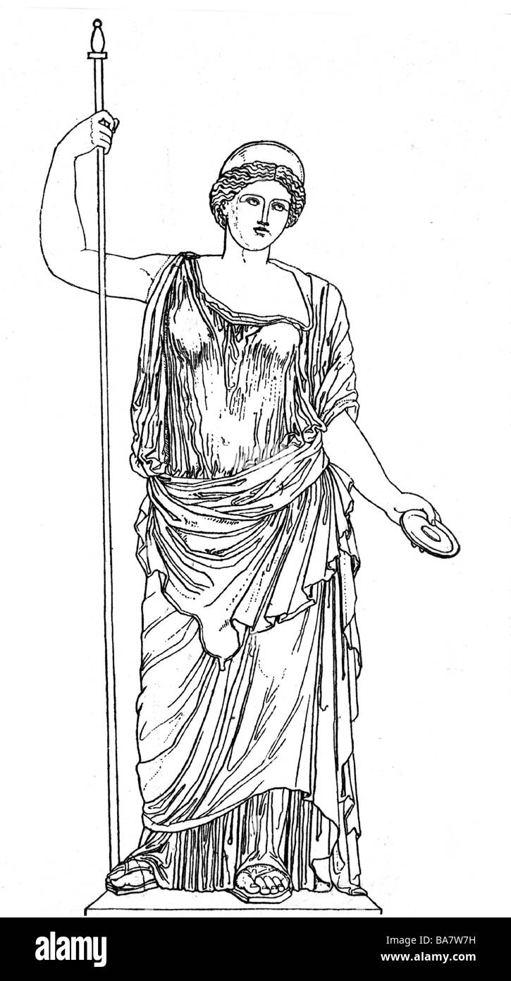 Uncategorized Drawings Of Greek Goddesses hera greek deity juno sister and wife of zeus full length drawing after ancient statue roman mythology here goddess cl