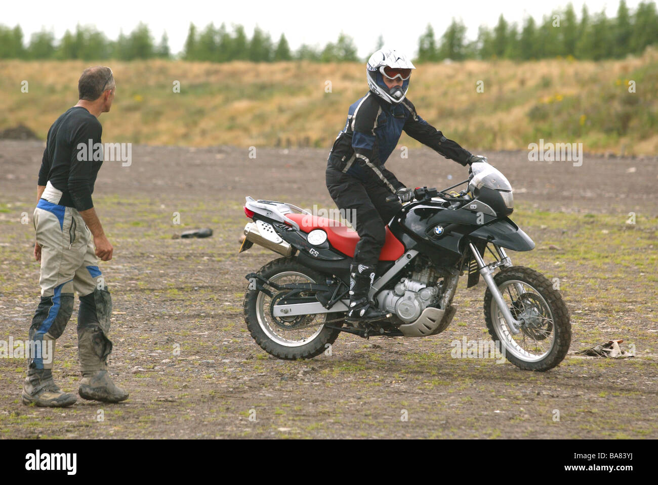 Bmw Off Road Motorcycle Training Wales Stock Photo Royalty Free Image 23535670 Alamy