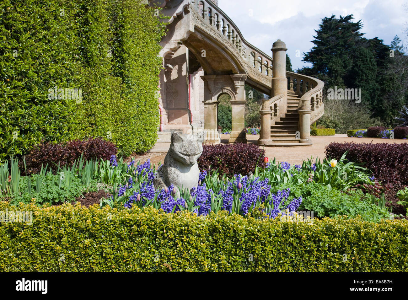 Cat Garden at Belfast Castle Stock Photo Royalty Free Image