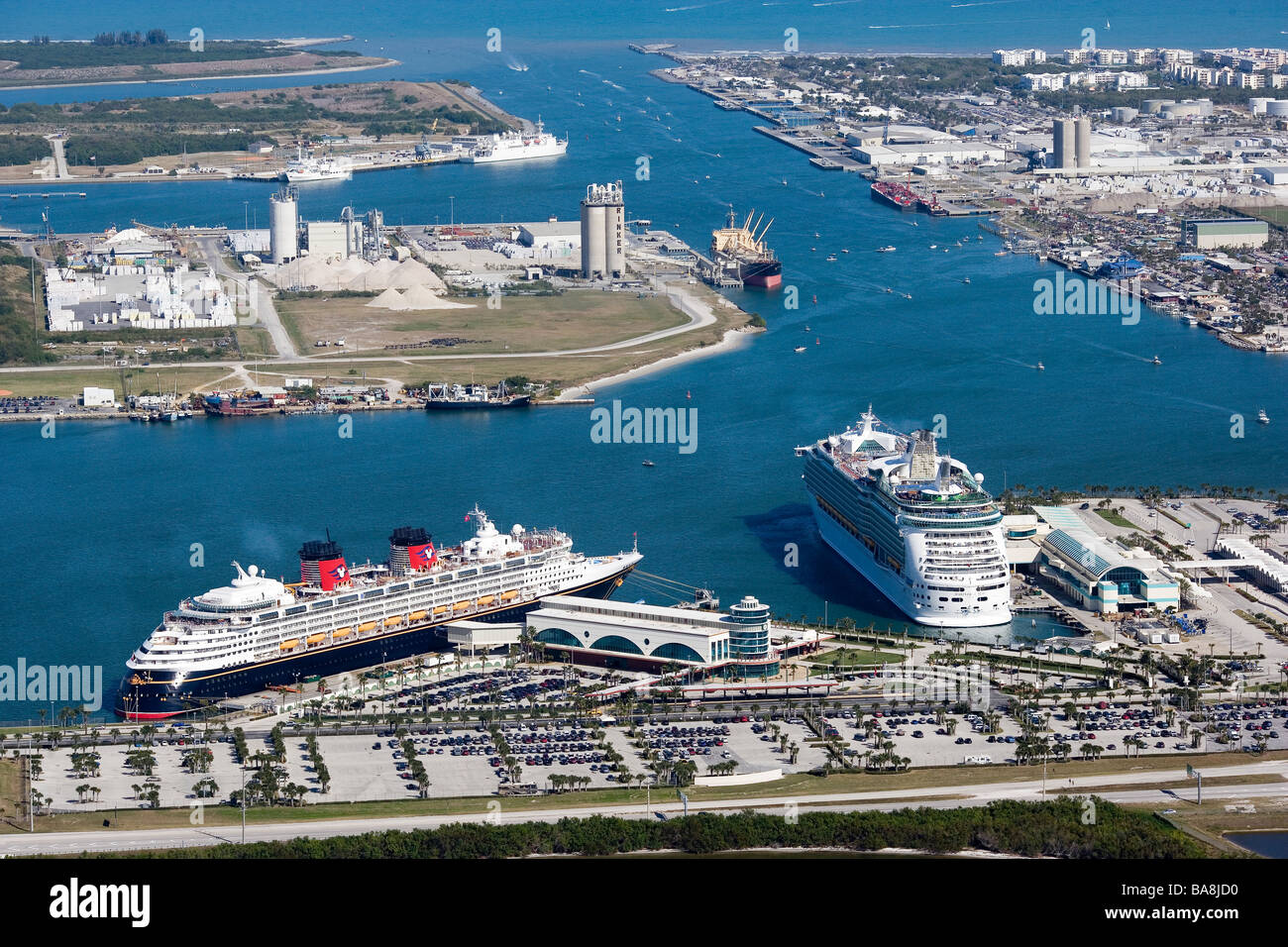 Cruise Ships In Harbor At Port Canaveral Cocoa Beach Florida - Cruise ships port canaveral