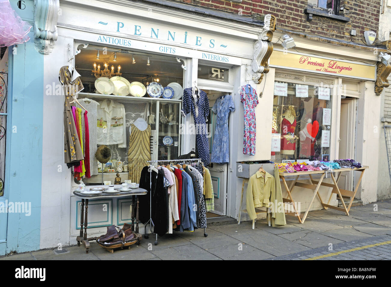London, England, Uk, Vintage Clothing Shop Display On Portobello ...