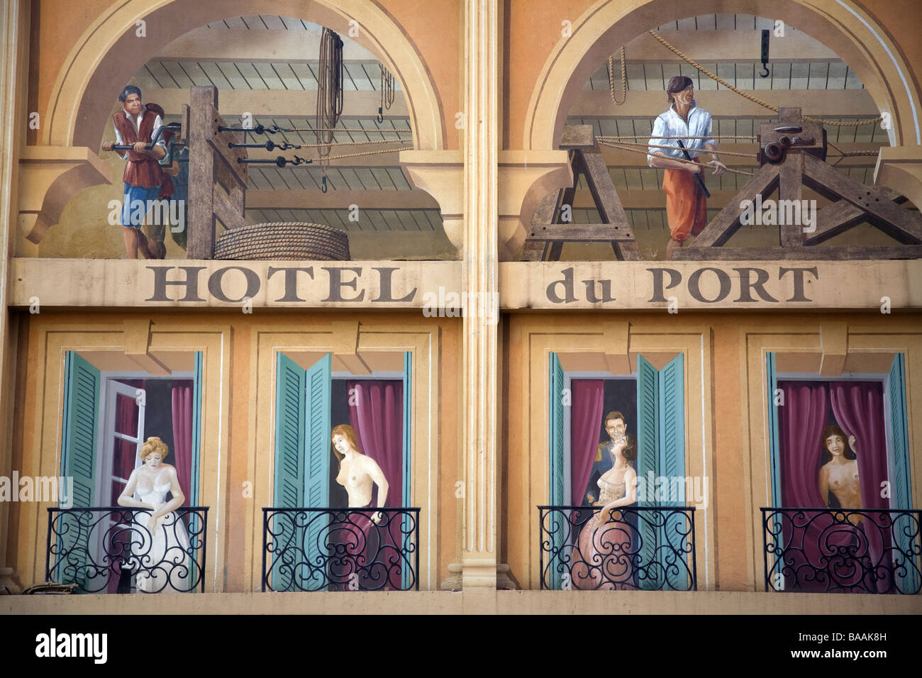 Trompe L Oeil Wall Murals   Stock Photo Trompe L Oeil Mural On The Wall Of