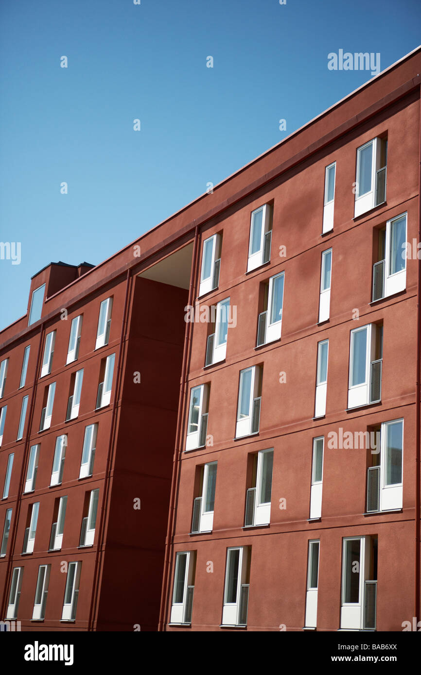 An Apartment Building Stockholm Sweden Stock Photo
