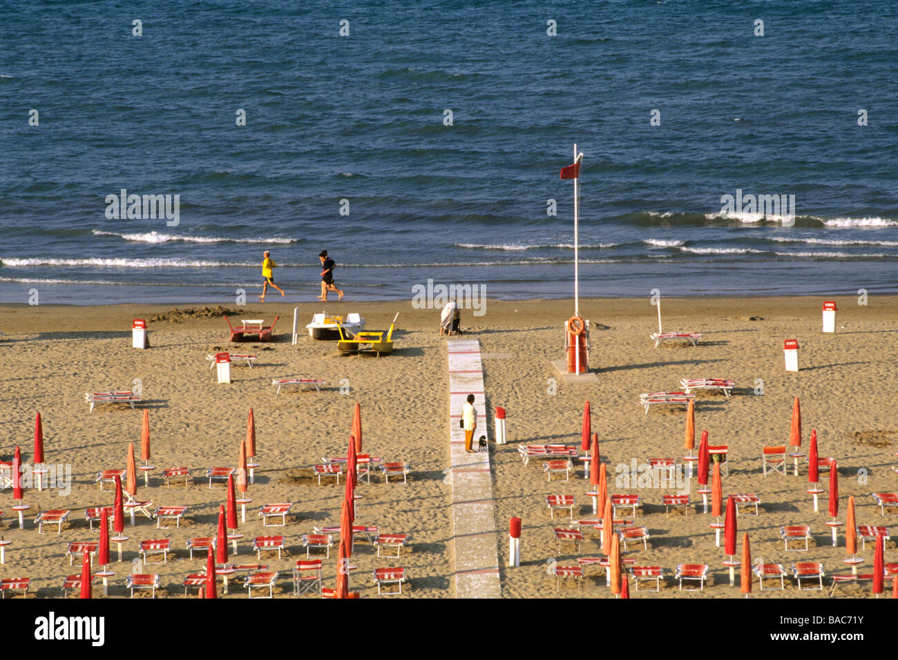 The miramare beach province of rimini italy stock photo for Miramare beach