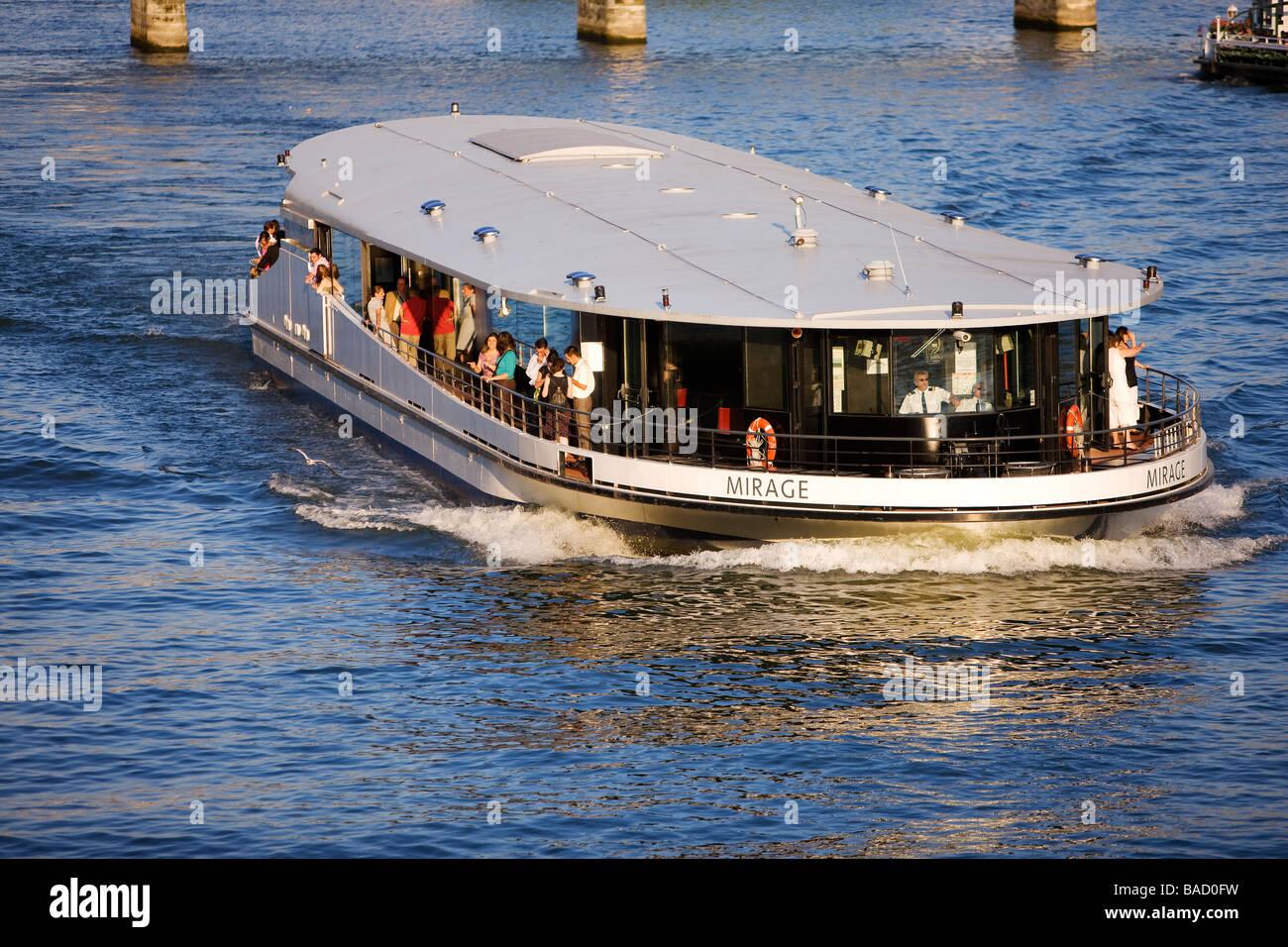 France paris mirage riverboat bateau mouche on the river seine stock photo royalty free - Port de javel haut 75015 paris ...