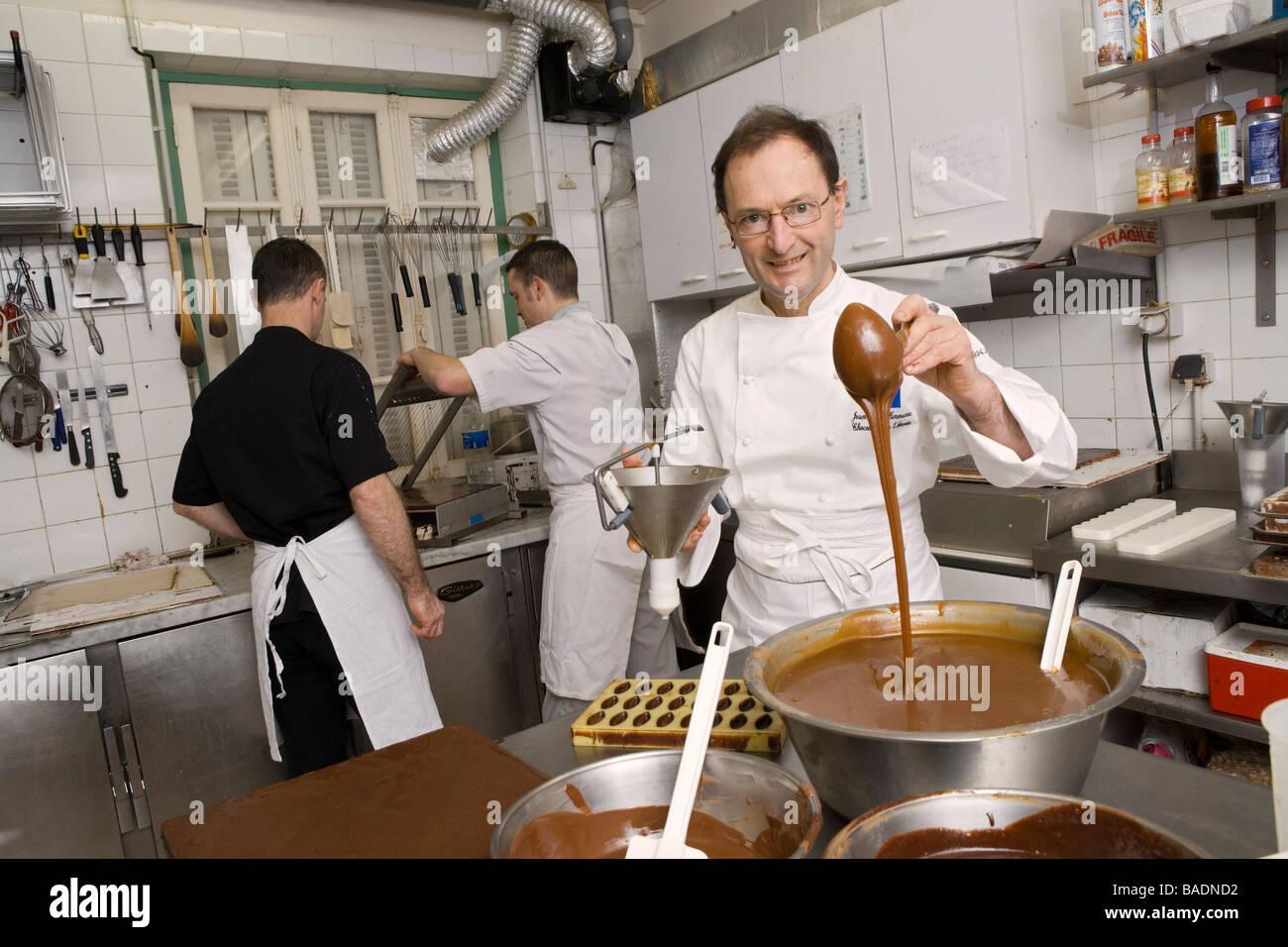 France, Finistere, Brest, Histoire de Chocolat, chocolate maker ...