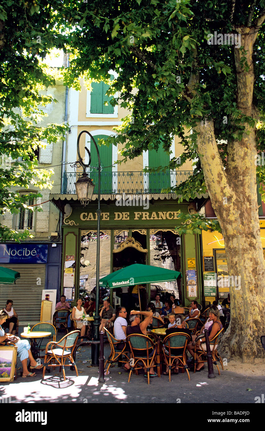France, Vaucluse, L'isle Sur La Sorgue, The Cafe De France