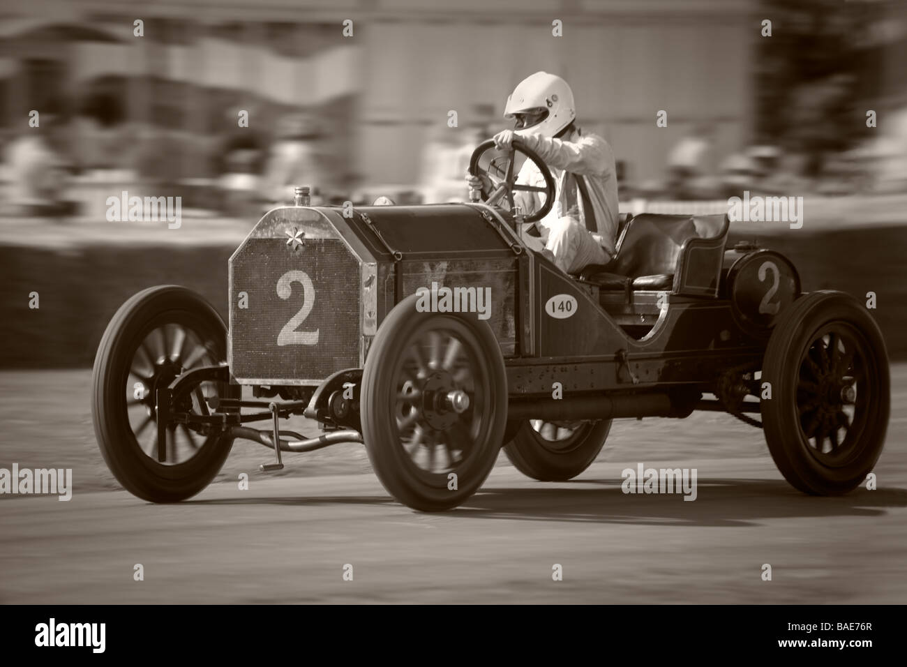 Vintage car racing at Goodwood Festival of Speed Stock Photo ...