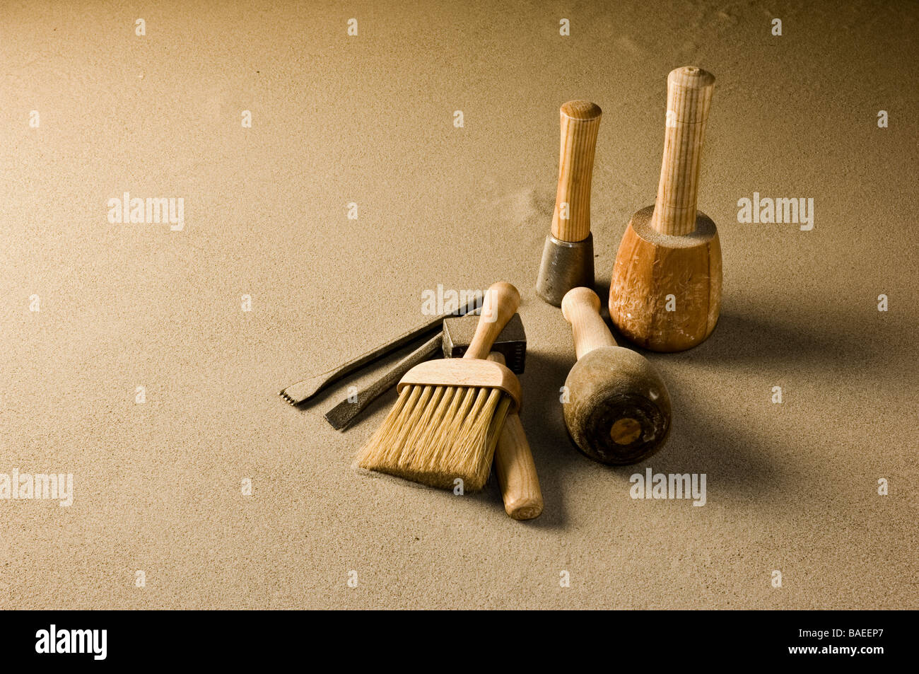 Stone Mason Tools : Stone mason tools stock photo royalty free image