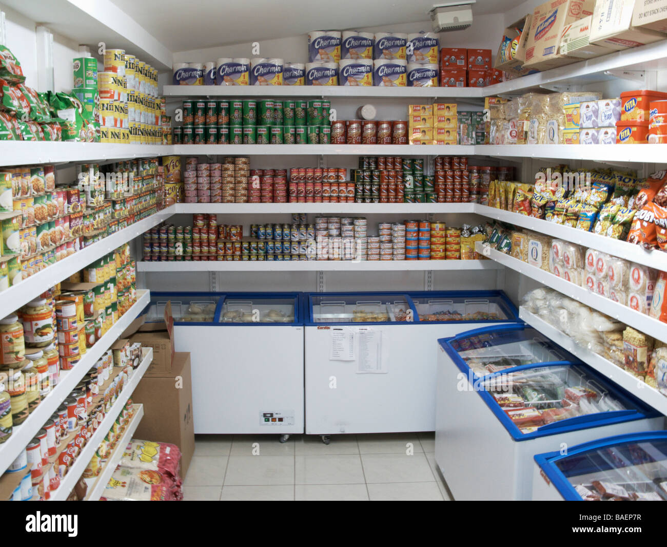 Oriental Food Store Interior London UK TV000117   Stock Image