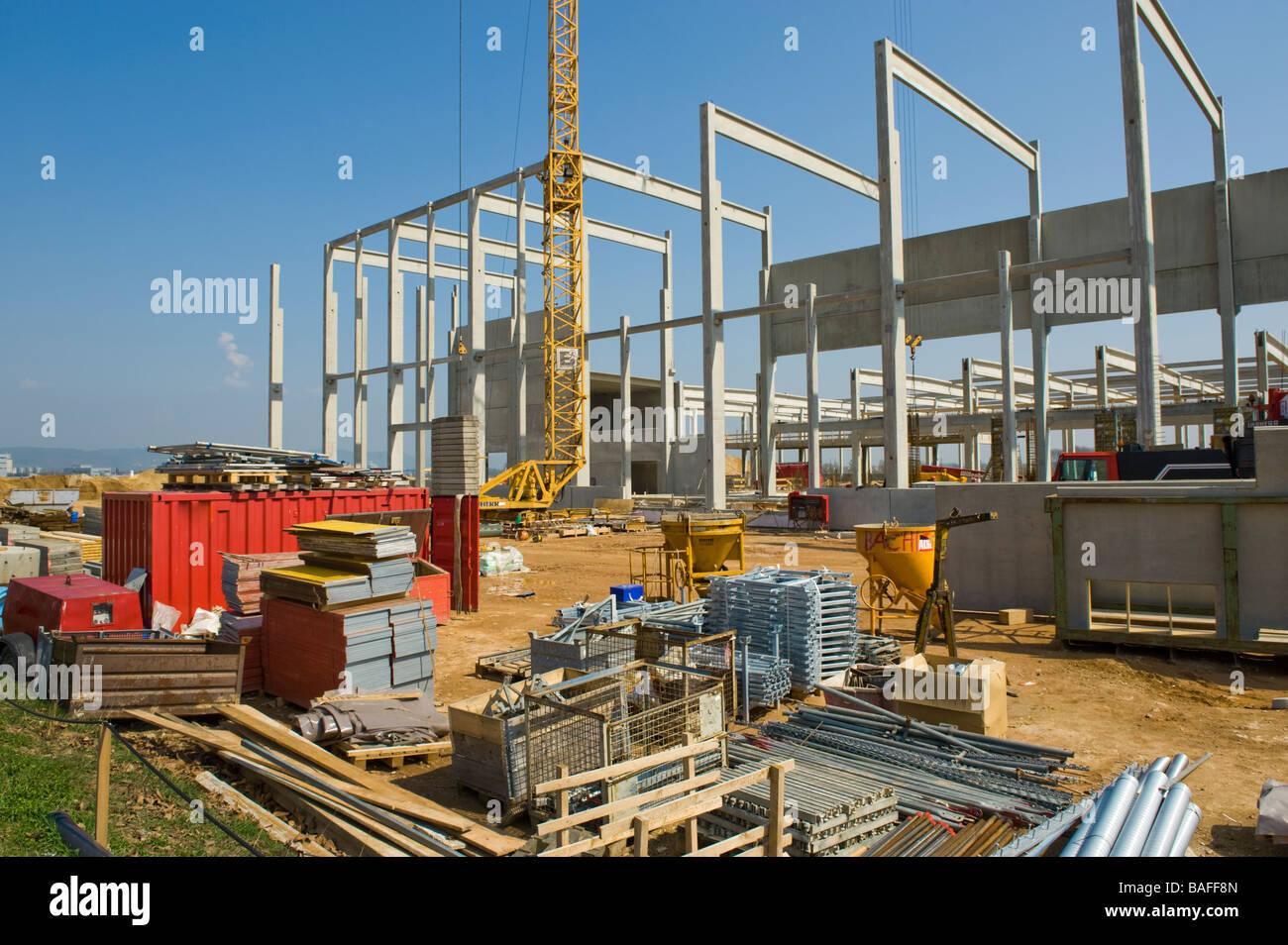 Building Construction Site : Building site construction factory plant structure