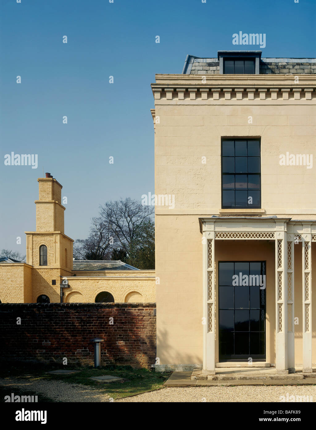Garden To Kitchen Moggerhanger House Sandy United Kingdom Sir John Soane Stock