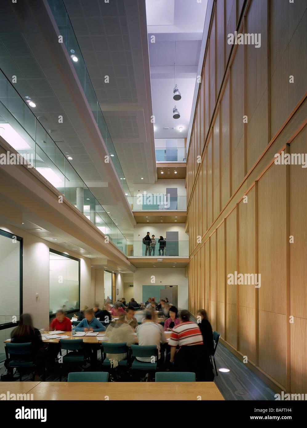Plymouth University Library Interior Atrium View