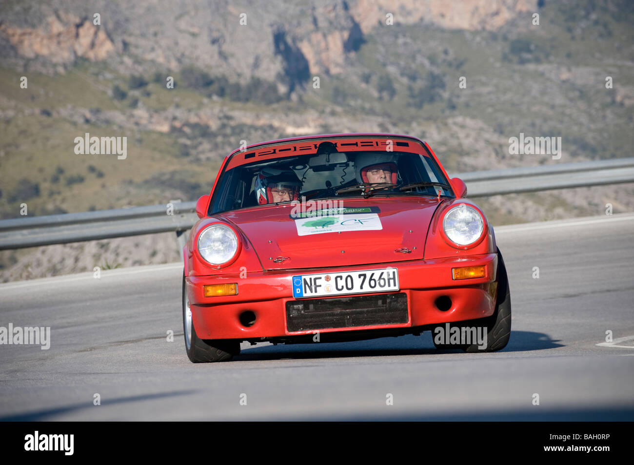 red porsche 911 classic sports car racing in the mallorca classic car stock photo royalty free. Black Bedroom Furniture Sets. Home Design Ideas