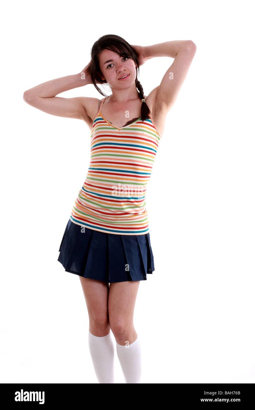 Socks Free Teen Pantyhose Short Skirts 6