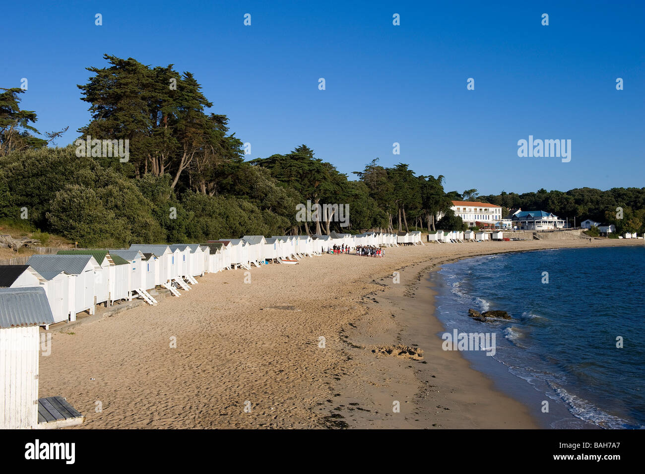 france vendee ile de noirmoutier bois de la chaise la plage des stock photo royalty free. Black Bedroom Furniture Sets. Home Design Ideas