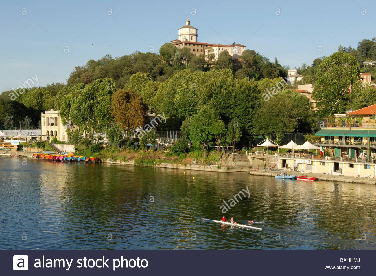 Po River Torino Piedmont Italy Stock Photo Royalty Free Image - Po river