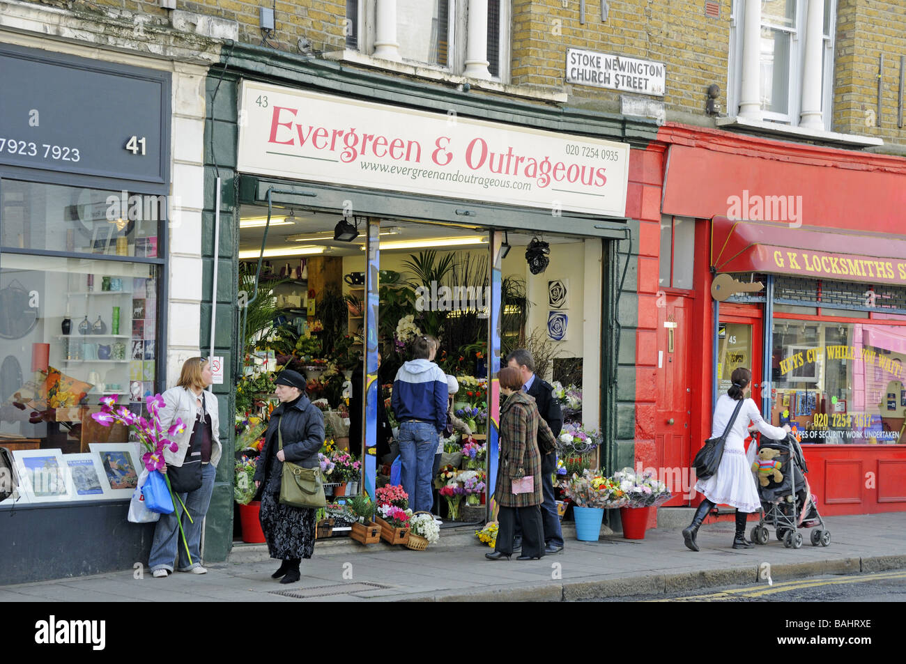Evergreen and outrageous flower shop stoke newington for Evergreen shop
