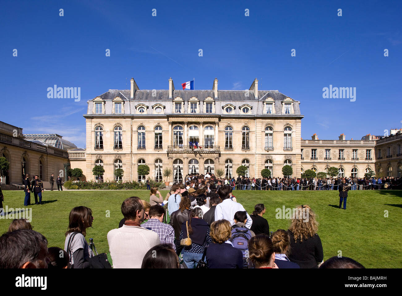 france paris palais de l 39 elysee elysee palace open to the public stock photo royalty free. Black Bedroom Furniture Sets. Home Design Ideas