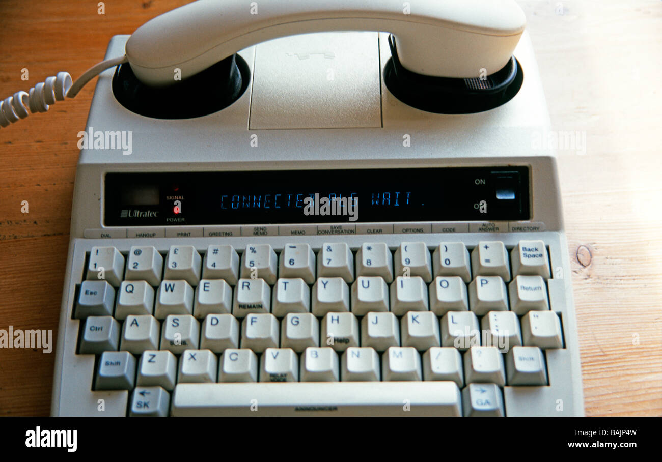 Minicom For Deaf Users Of Telephone Uk Stock Photo