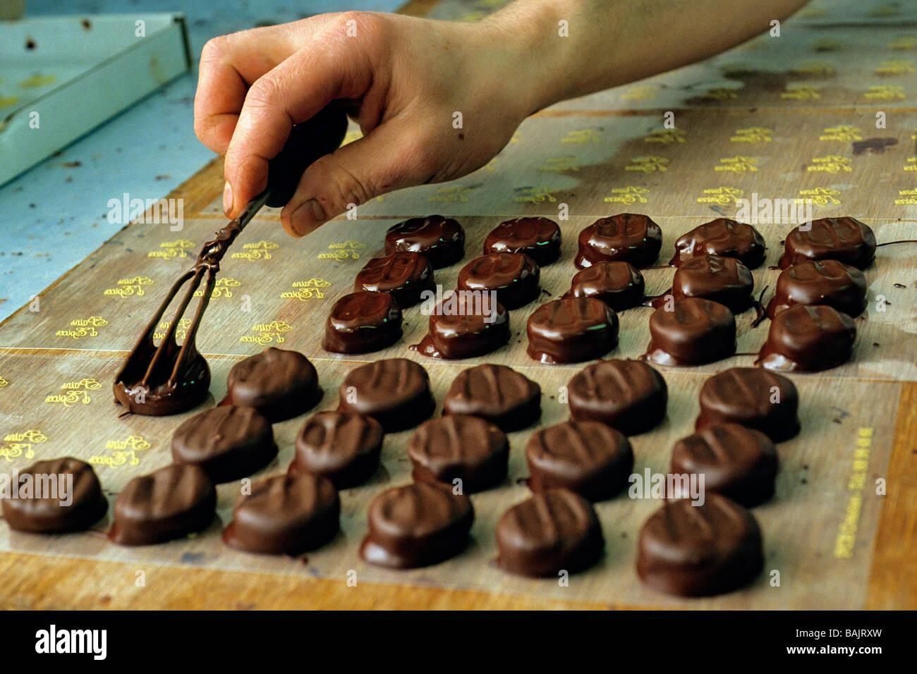 France, Saone et Loire, La Clayette, the chocolate maker Bernard ...