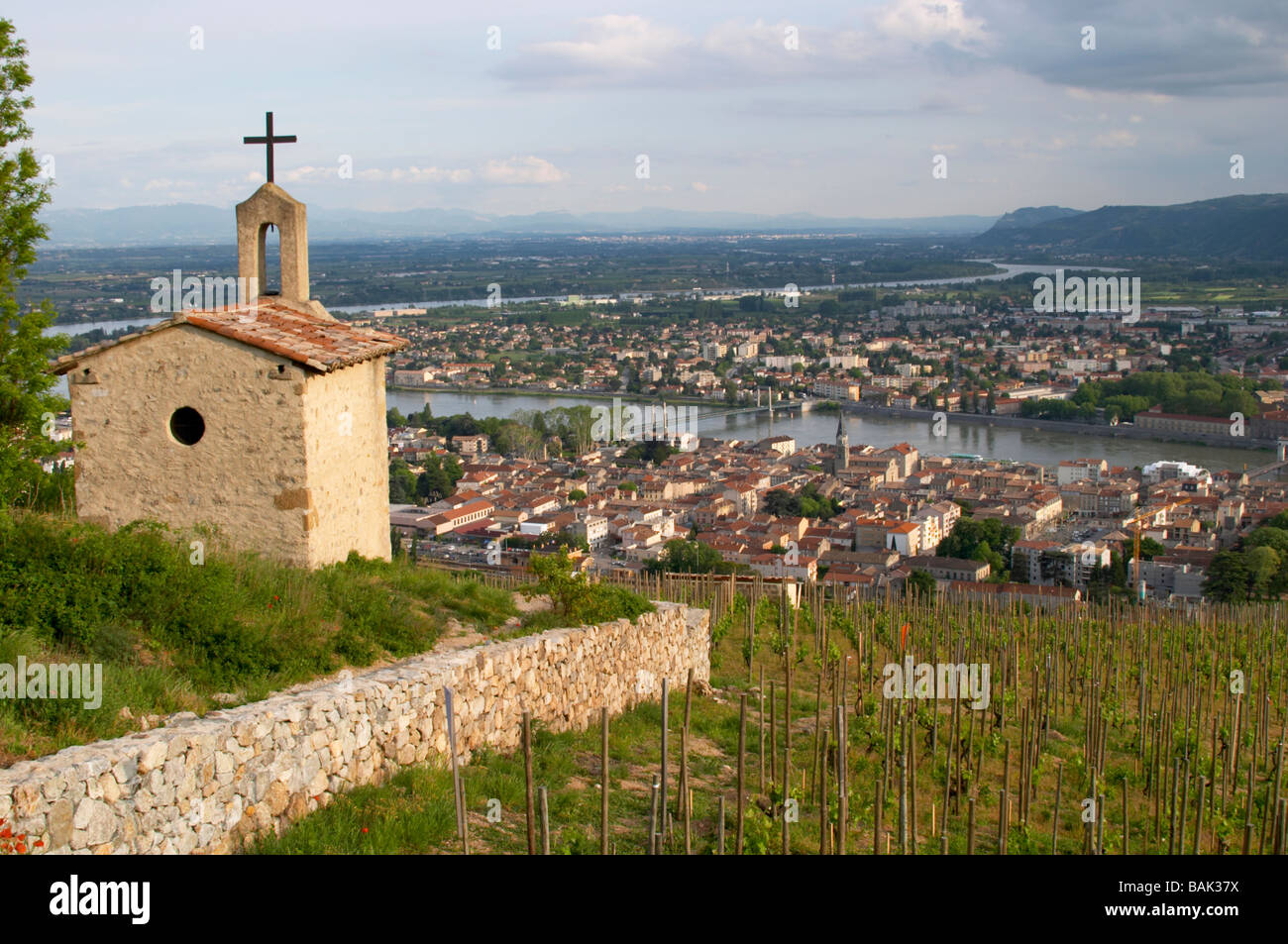 the la chapelle chapel vineyard view over town tain l. Black Bedroom Furniture Sets. Home Design Ideas