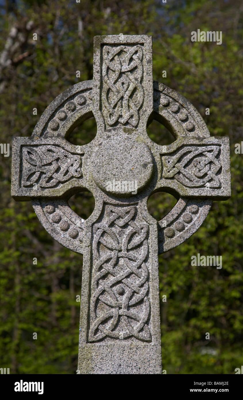 Ornate stone celtic cross headstone stock photos ornate stone irish celtic cross in the graveyard of antrim castle grounds county antrim northern ireland stock buycottarizona