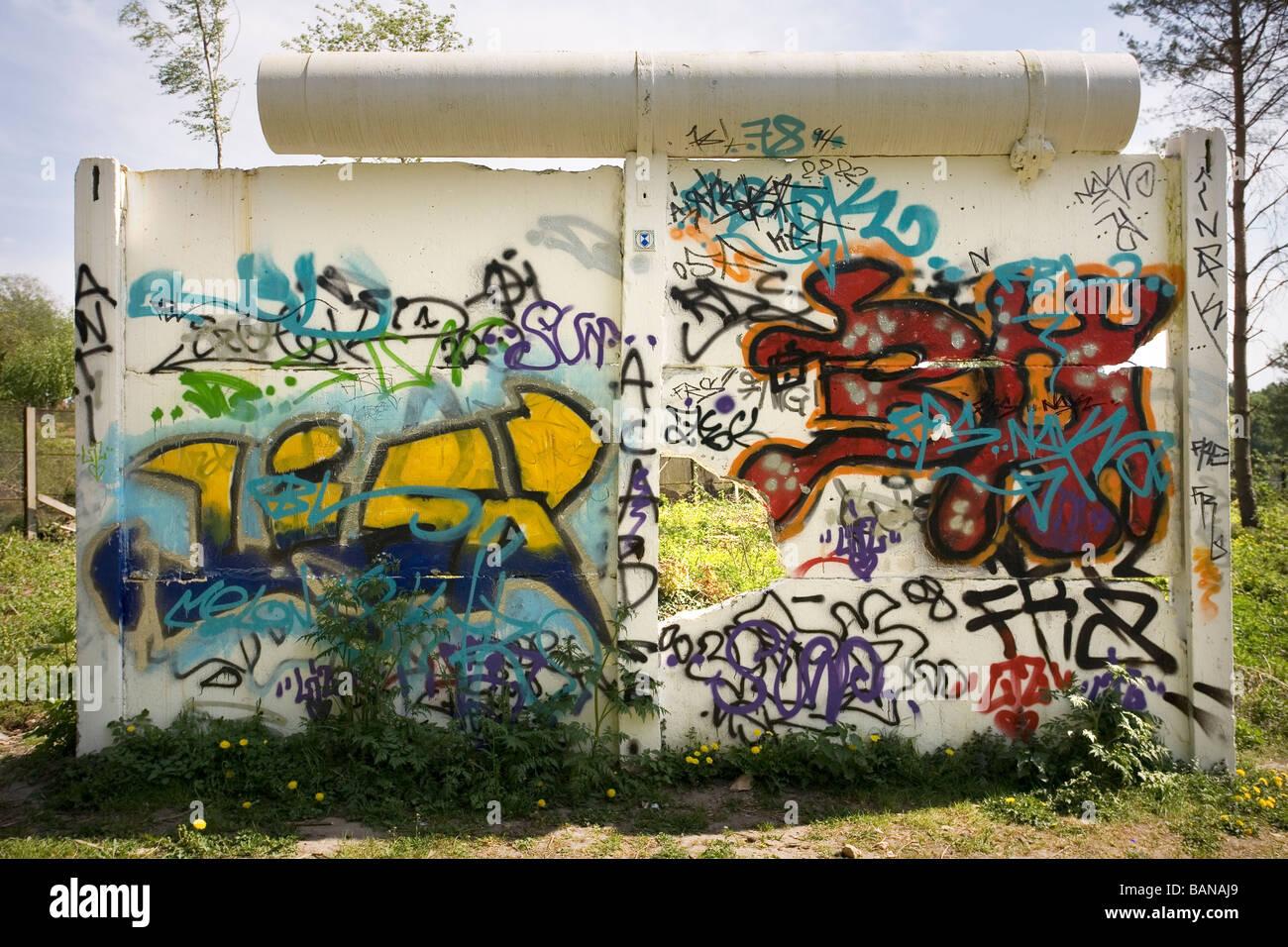 Gross Berlin berlin wall remains by gross glienicker see brandenburg germany