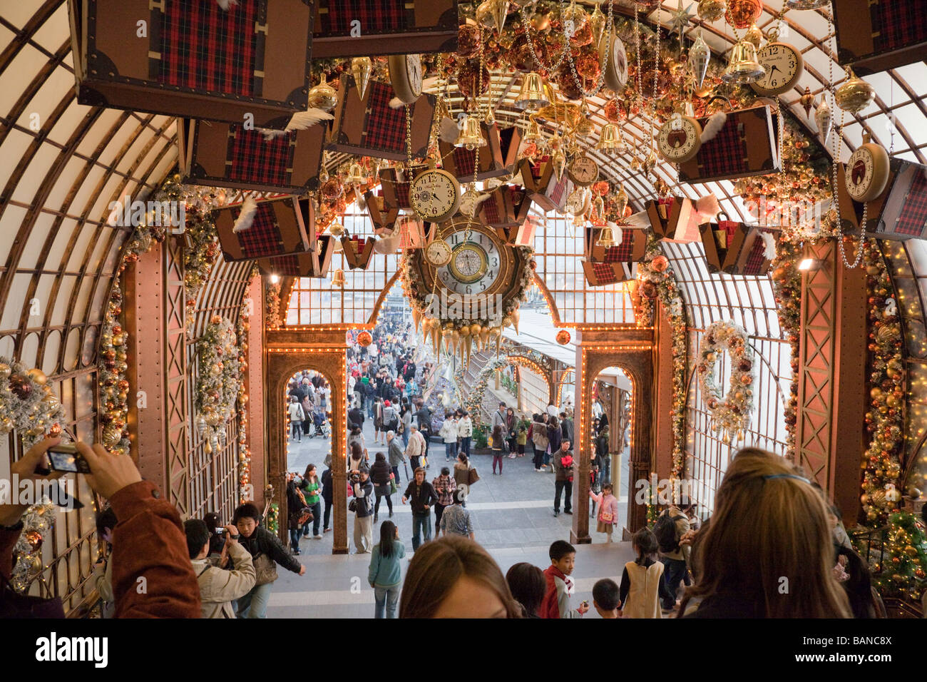 People in harbour city in hong kong christmas decoration for Christmas decoration online shop