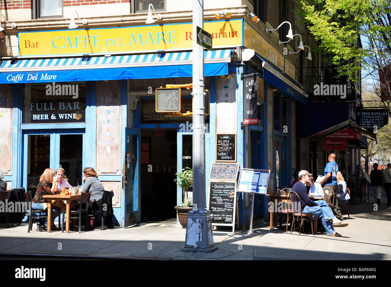 High Quality Outdoor Cafe Macdougal Street Greenwich Village New York City   Stock Image