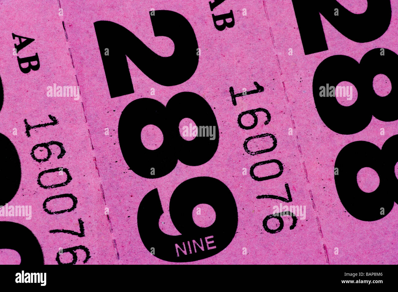raffle tickets stock photos raffle tickets stock images alamy pink raffle tickets cloakroom ticket stock image