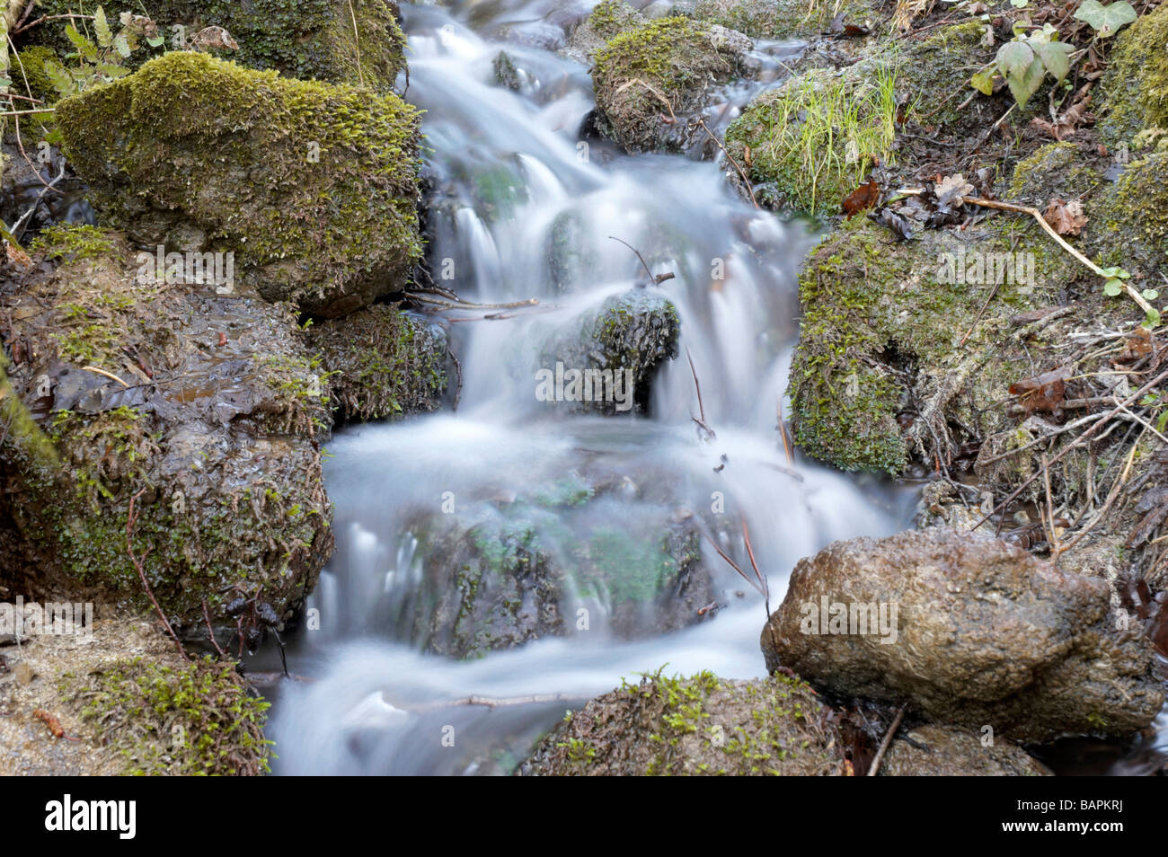 A Small Waterfall In Kent England Stock Photo Royalty Free Image 23855430 Alamy