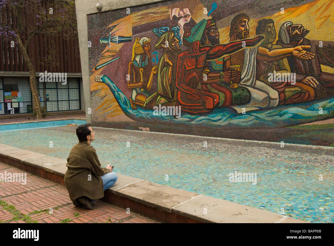 Jose chavez morado mosaic mural el retorno de for El mural pelicula